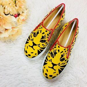 Charlotte Olympia Yellow Feline Cat Platform Shoe